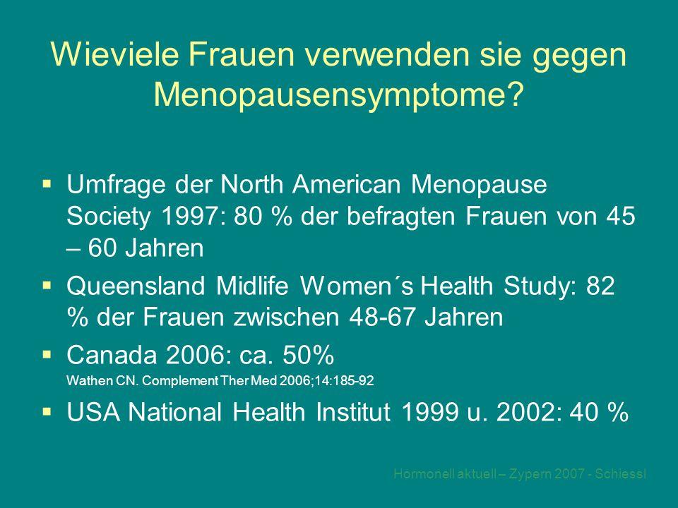 Wieviele Frauen verwenden sie gegen Menopausensymptome