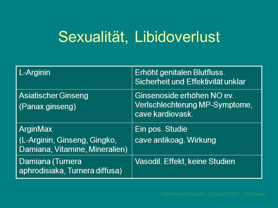 Sexualität, Libidoverlust