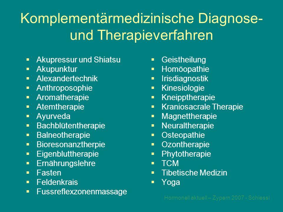 Komplementärmedizinische Diagnose- und Therapieverfahren