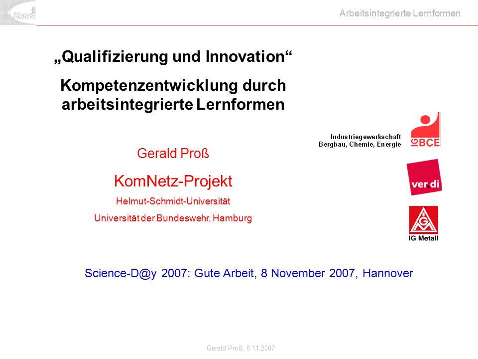 """""""Qualifizierung und Innovation"""