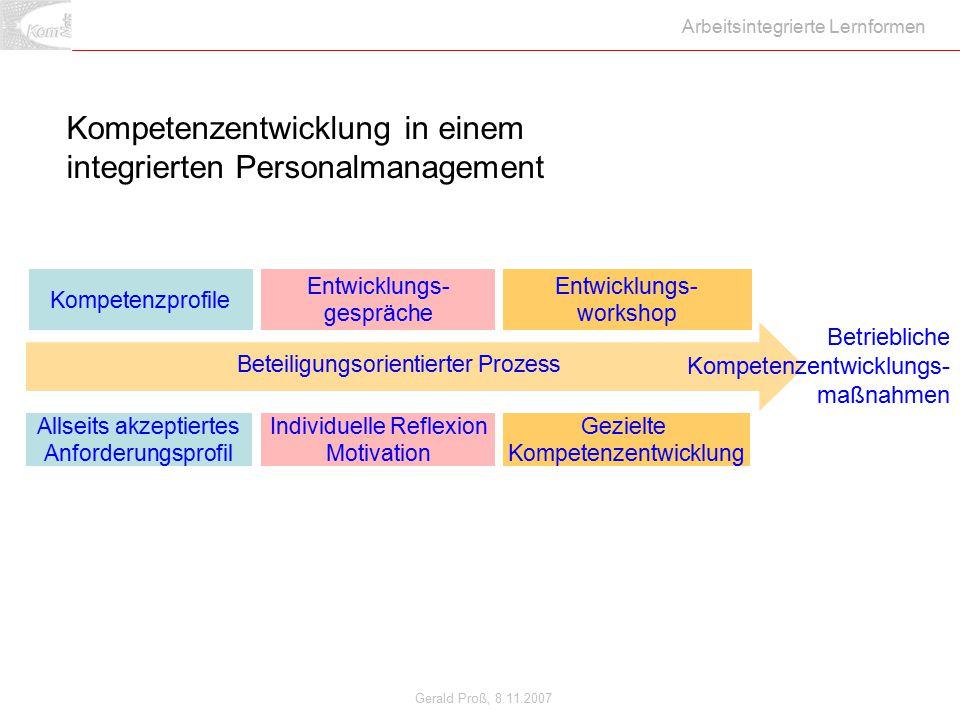 Kompetenzentwicklung in einem integrierten Personalmanagement