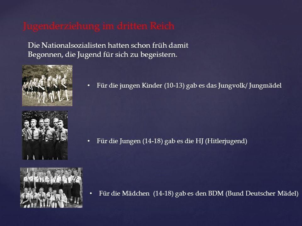 Jugenderziehung im dritten Reich