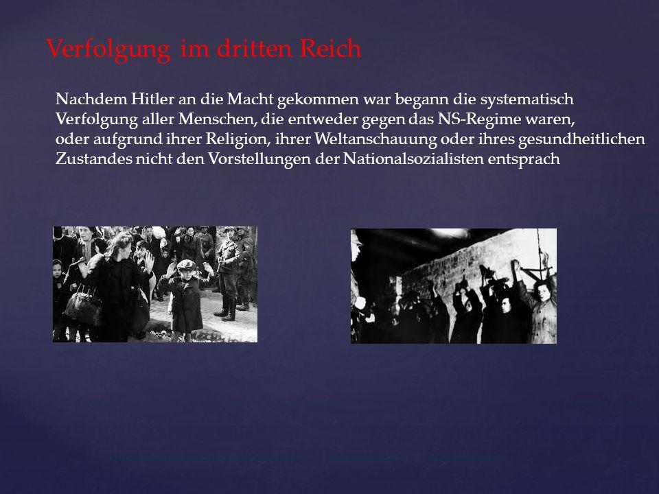 Verfolgung im dritten Reich
