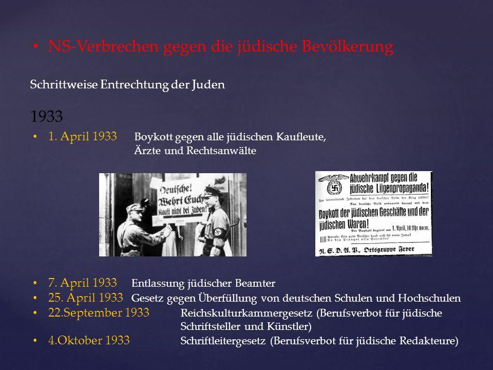 NS-Verbrechen gegen die jüdische Bevölkerung