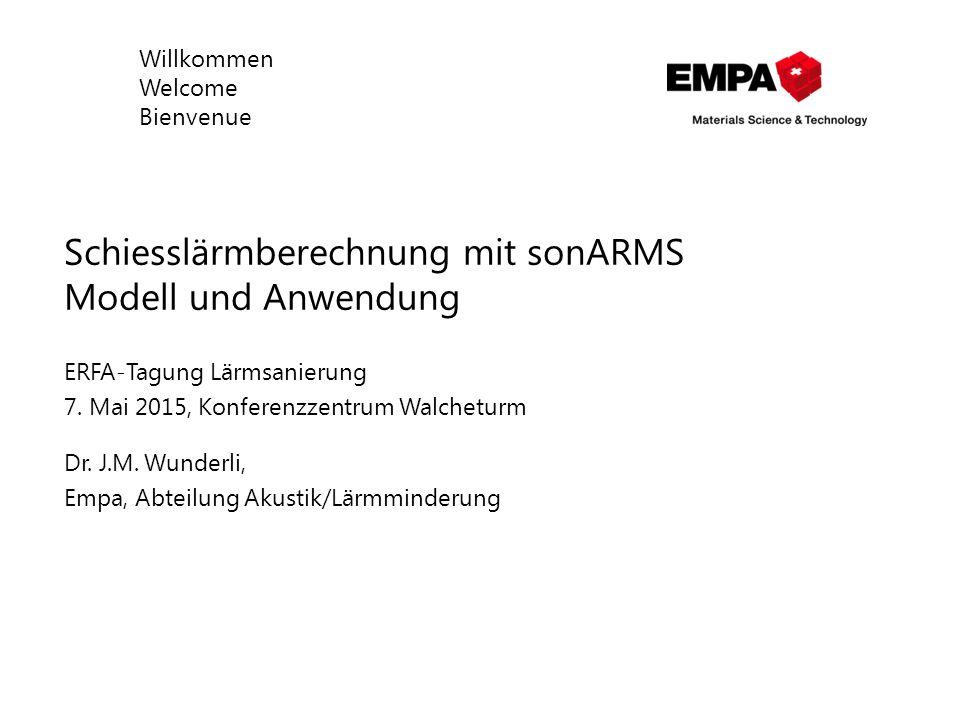 Schiesslärmberechnung mit sonARMS Modell und Anwendung