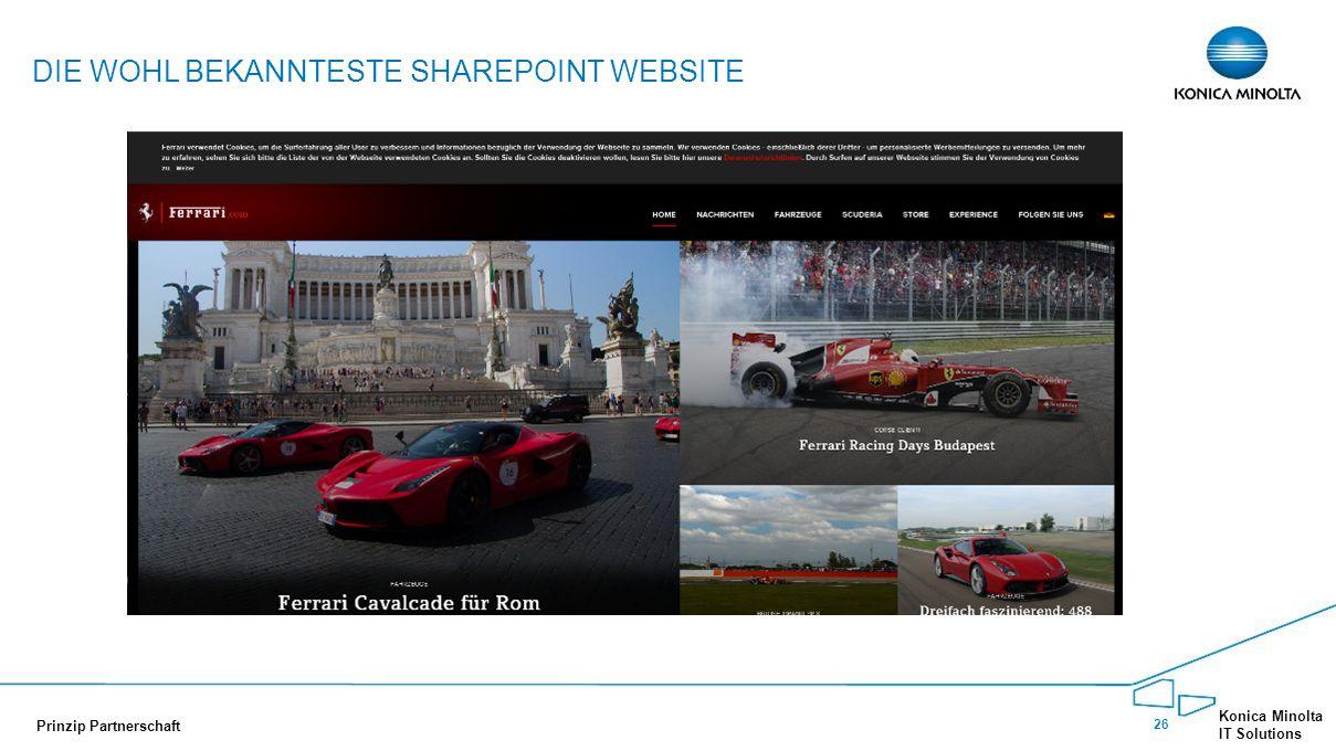 Die wohl bekannteste SharePoint Website