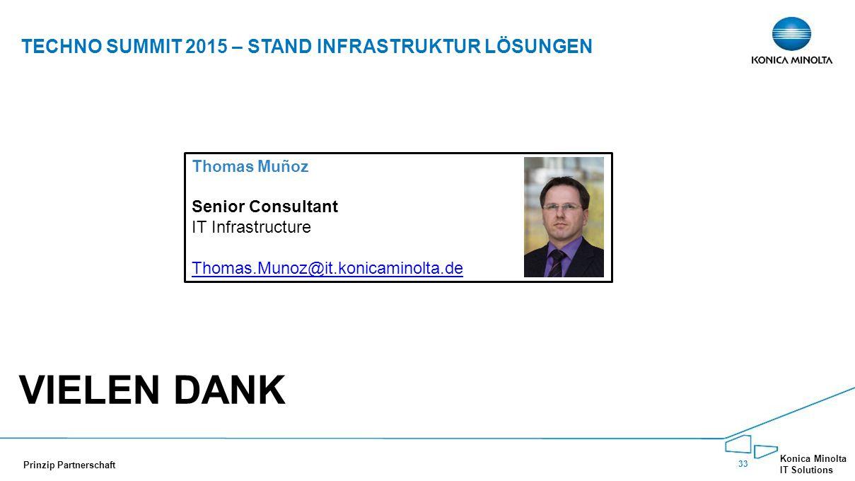 Vielen Dank Techno Summit 2015 – Stand Infrastruktur Lösungen
