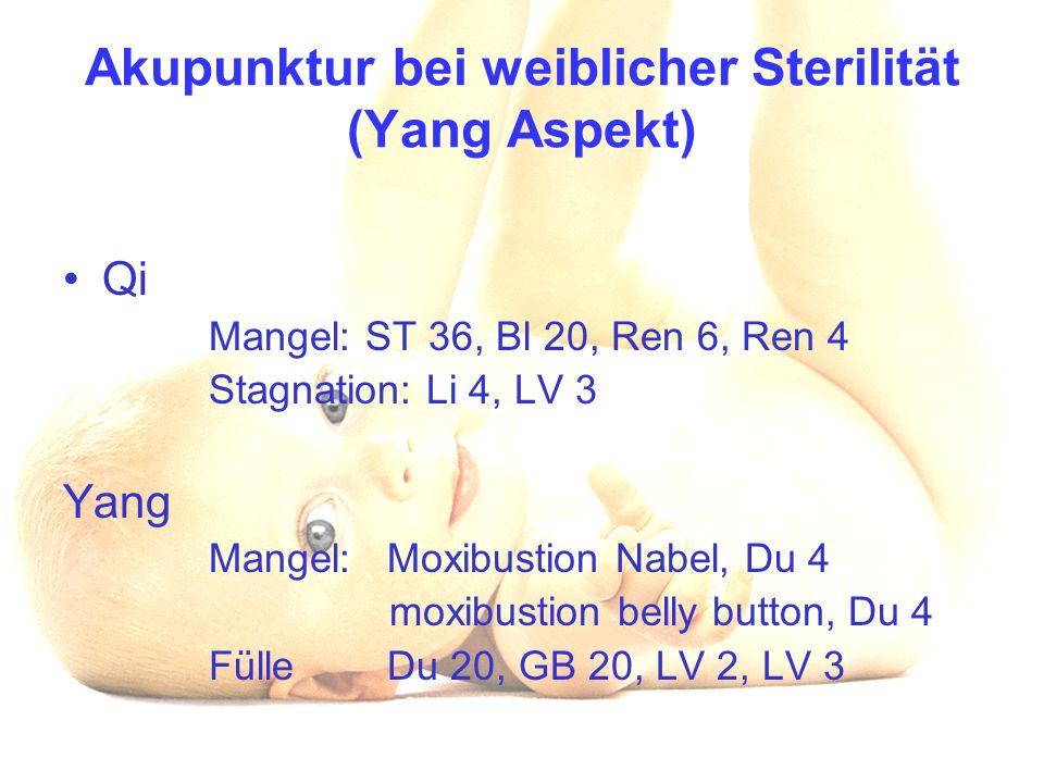 Akupunktur bei weiblicher Sterilität (Yang Aspekt)