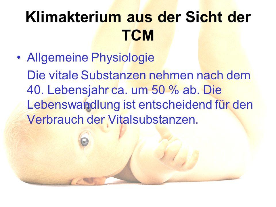 Klimakterium aus der Sicht der TCM