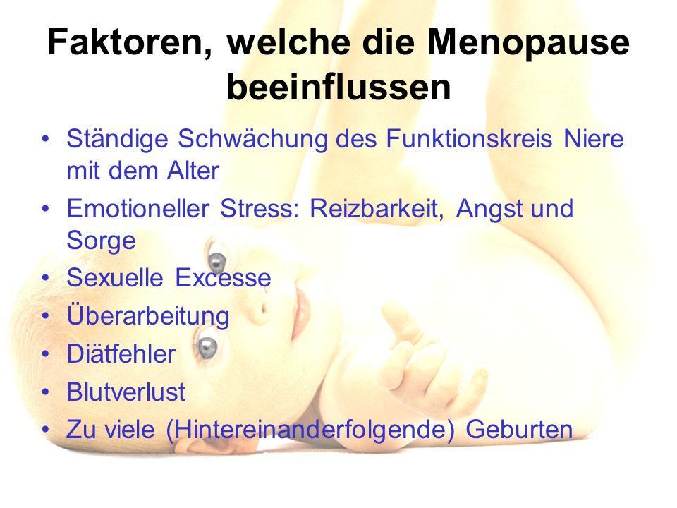 Faktoren, welche die Menopause beeinflussen