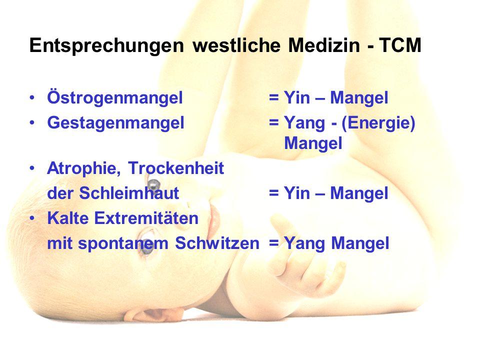Entsprechungen westliche Medizin - TCM
