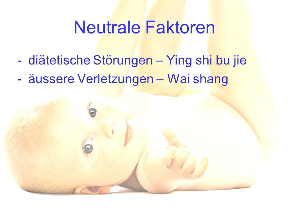 Neutrale Faktoren diätetische Störungen – Ying shi bu jie