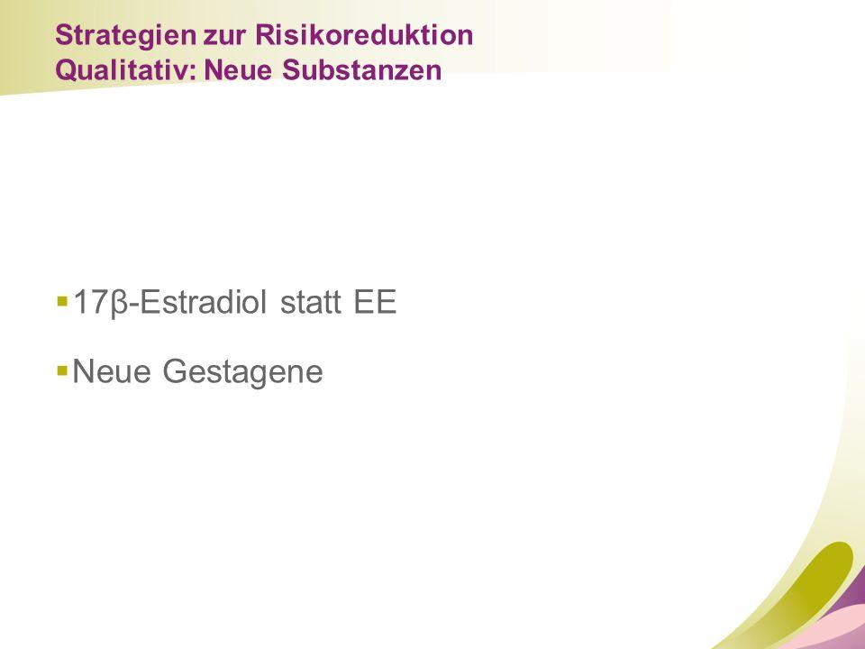17β-Estradiol statt EE Neue Gestagene