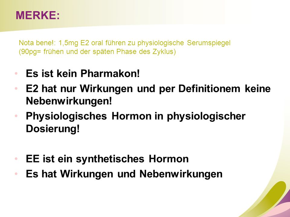 MERKE: Es ist kein Pharmakon!
