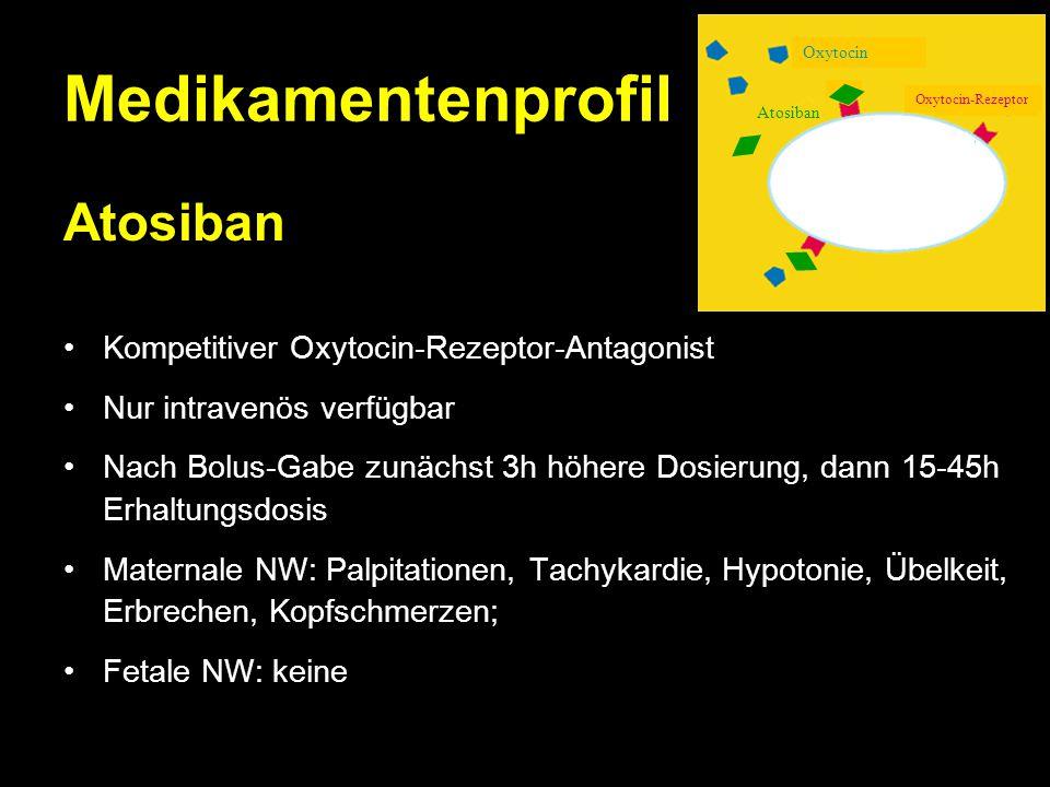 Medikamentenprofil Atosiban Kompetitiver Oxytocin-Rezeptor-Antagonist