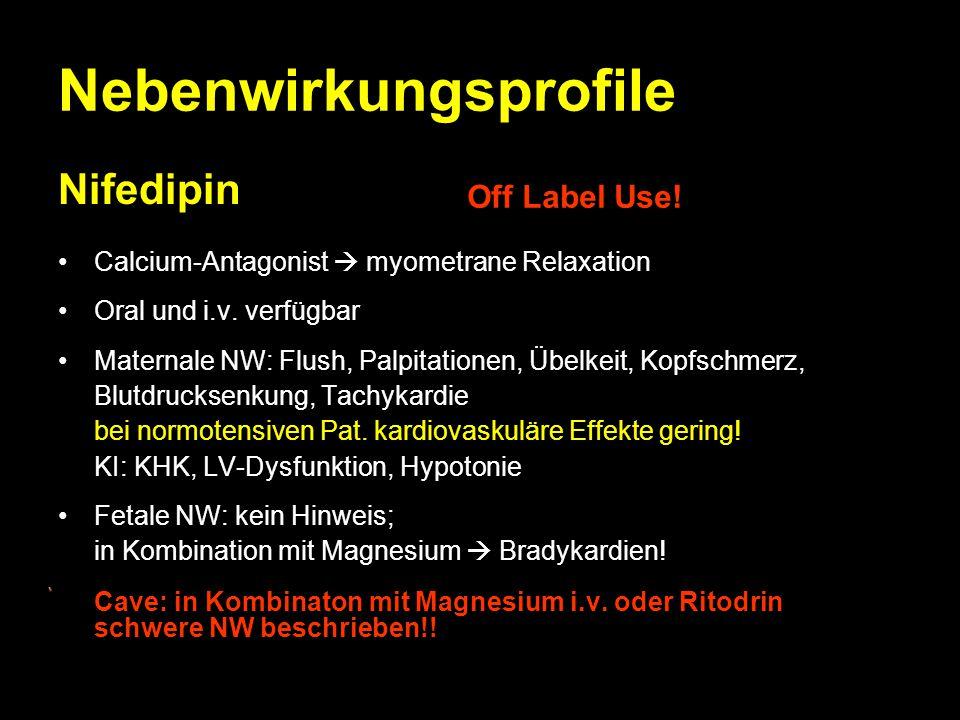 Nebenwirkungsprofile