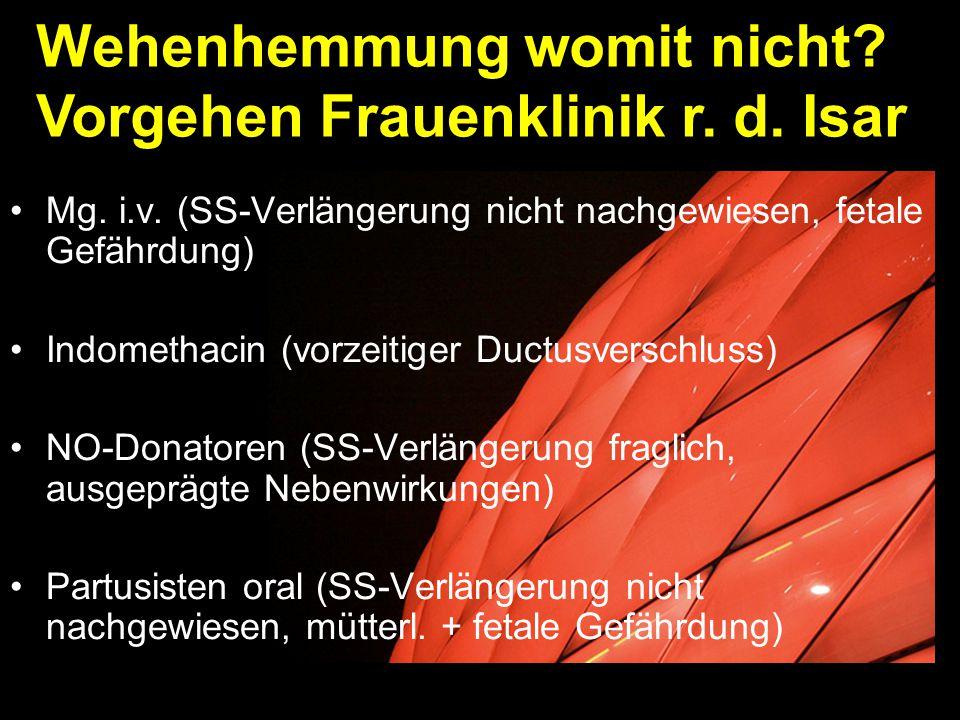 Wehenhemmung womit nicht Vorgehen Frauenklinik r. d. Isar