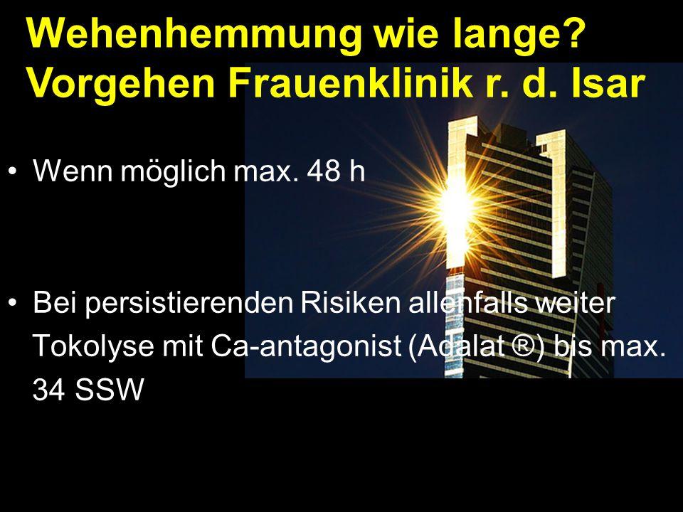 Wehenhemmung wie lange Vorgehen Frauenklinik r. d. Isar