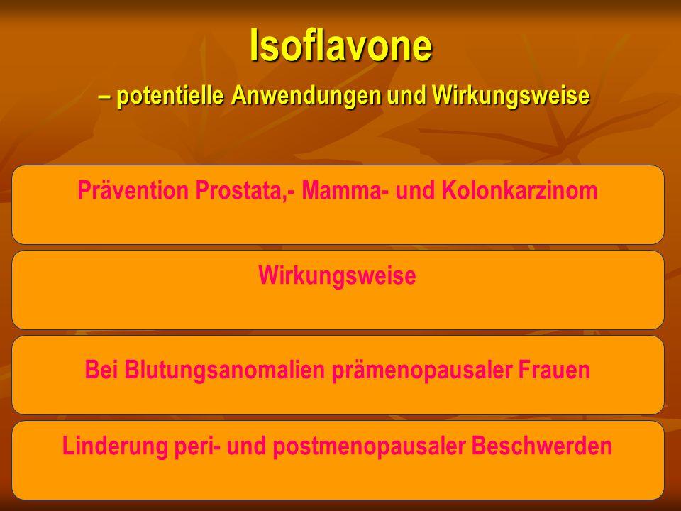 Isoflavone – potentielle Anwendungen und Wirkungsweise