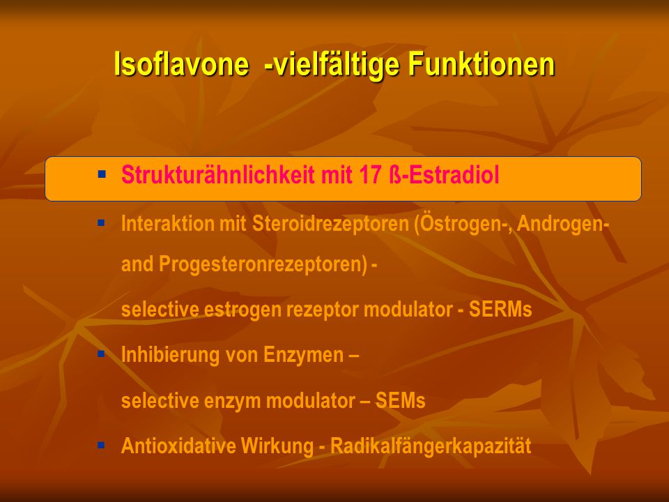 Isoflavone -vielfältige Funktionen