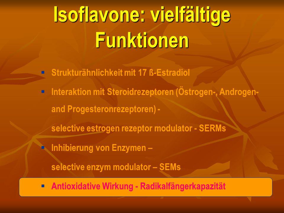 Isoflavone: vielfältige Funktionen