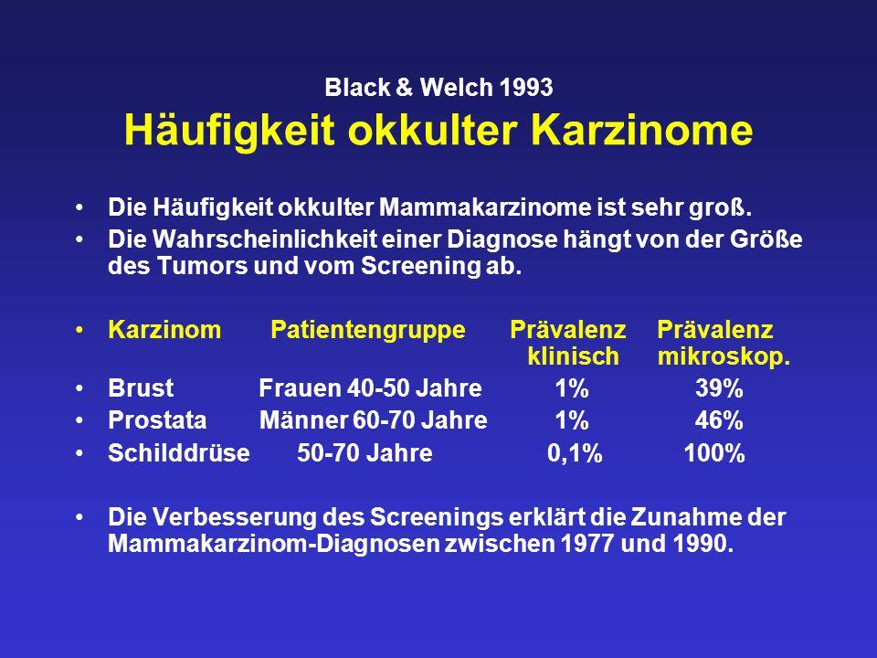 Black & Welch 1993 Häufigkeit okkulter Karzinome