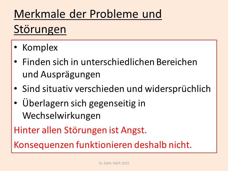 Merkmale der Probleme und Störungen