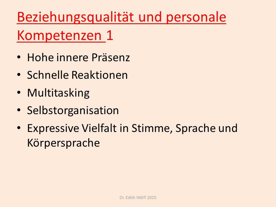 Beziehungsqualität und personale Kompetenzen 1