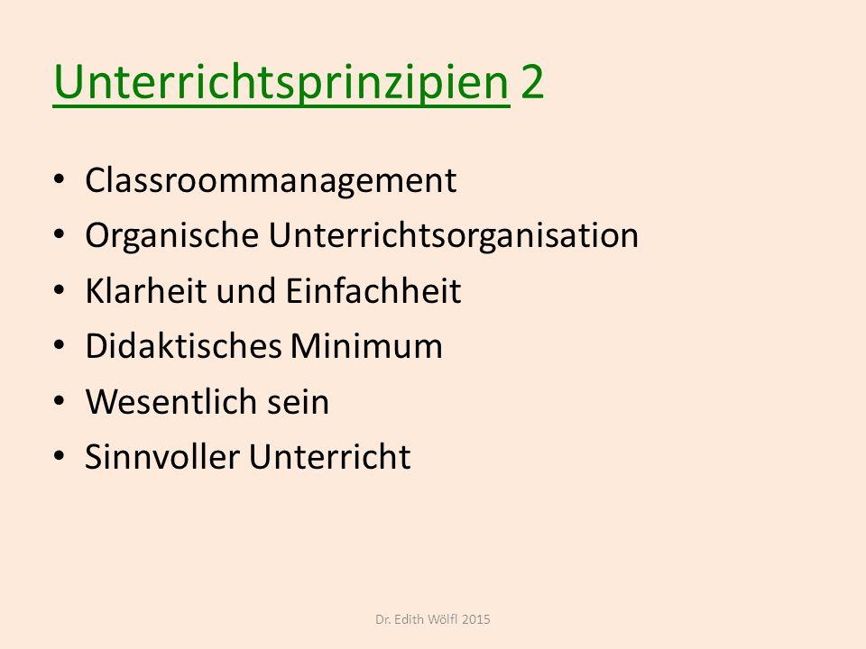 Unterrichtsprinzipien 2