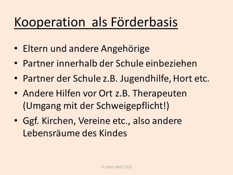 Kooperation als Förderbasis