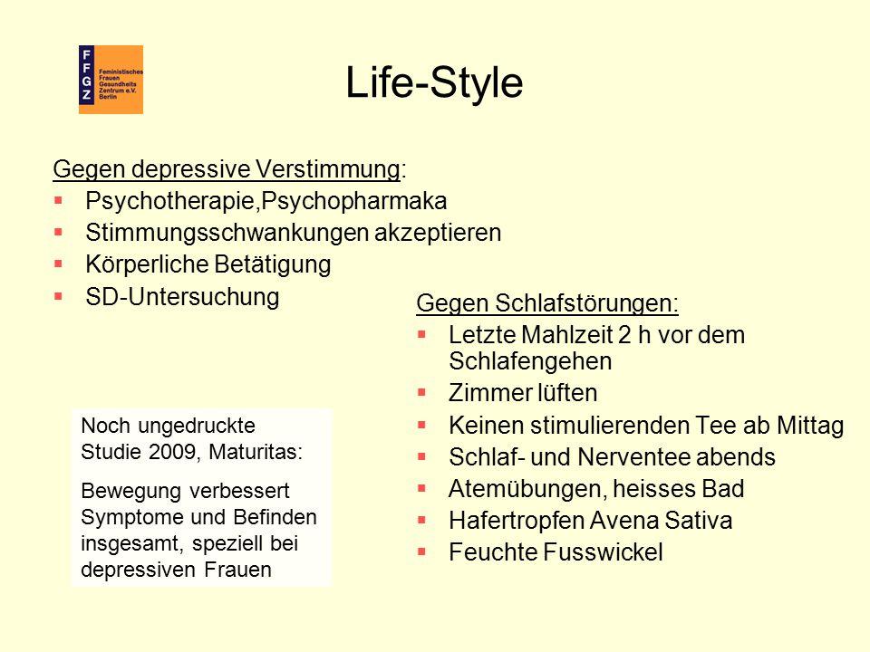Life-Style Gegen depressive Verstimmung: Psychotherapie,Psychopharmaka