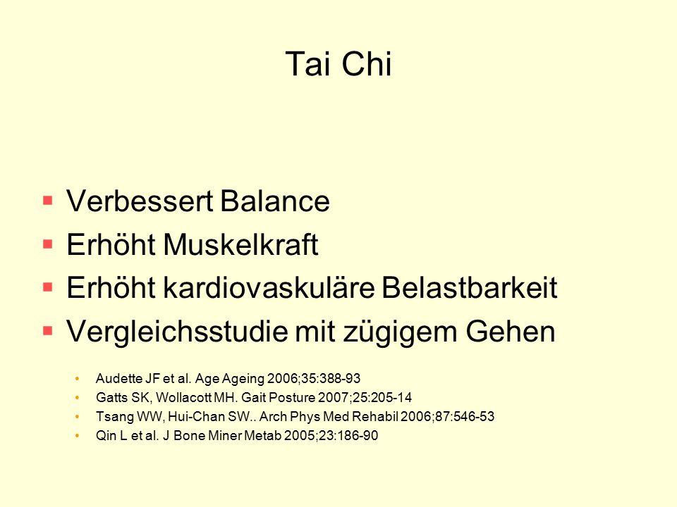 Tai Chi Verbessert Balance Erhöht Muskelkraft