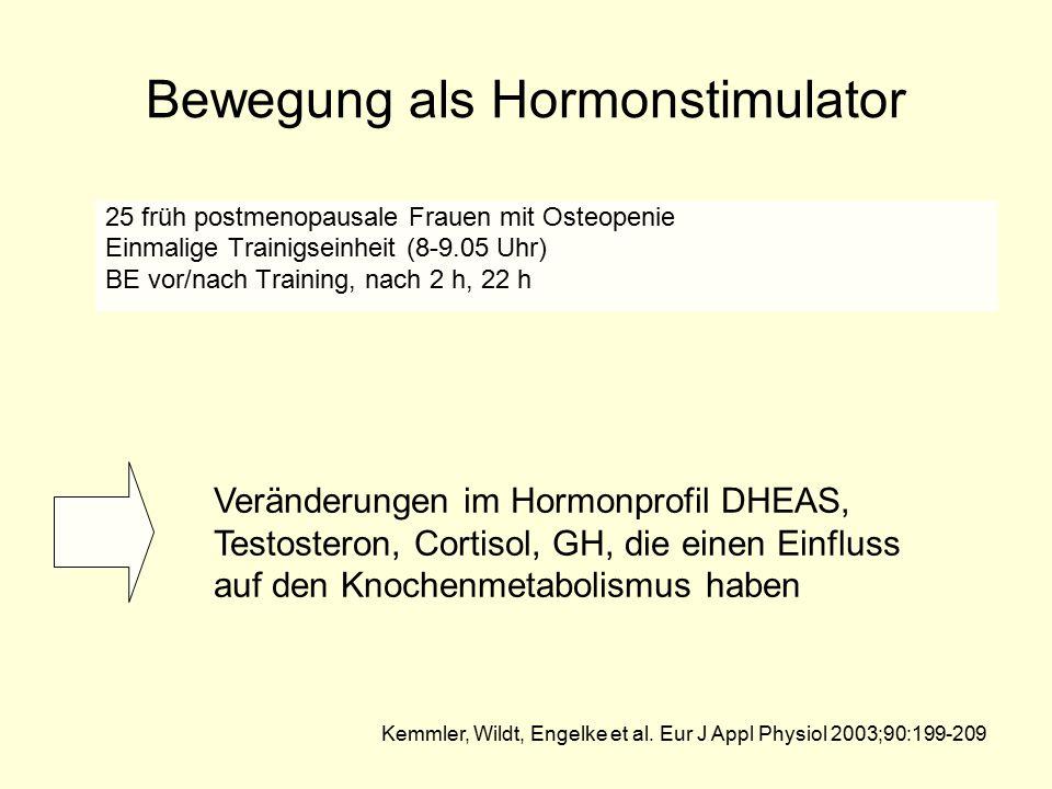 Bewegung als Hormonstimulator