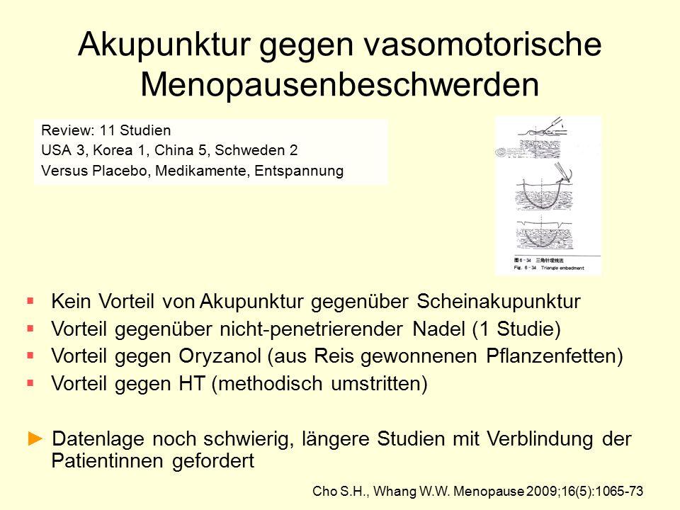 Akupunktur gegen vasomotorische Menopausenbeschwerden