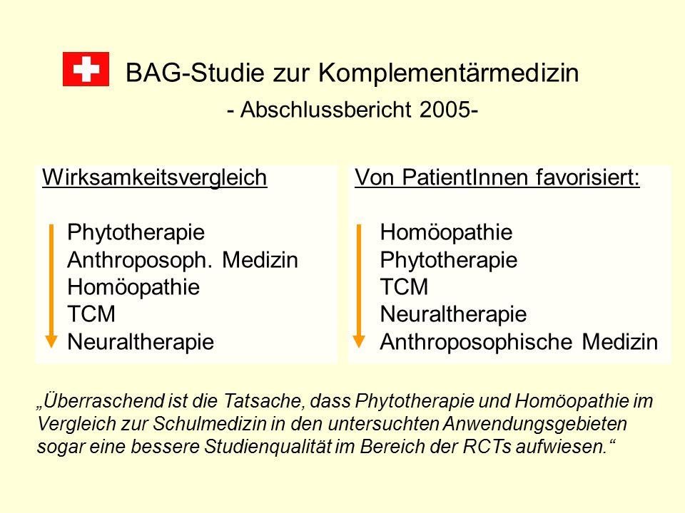 BAG-Studie zur Komplementärmedizin - Abschlussbericht 2005-
