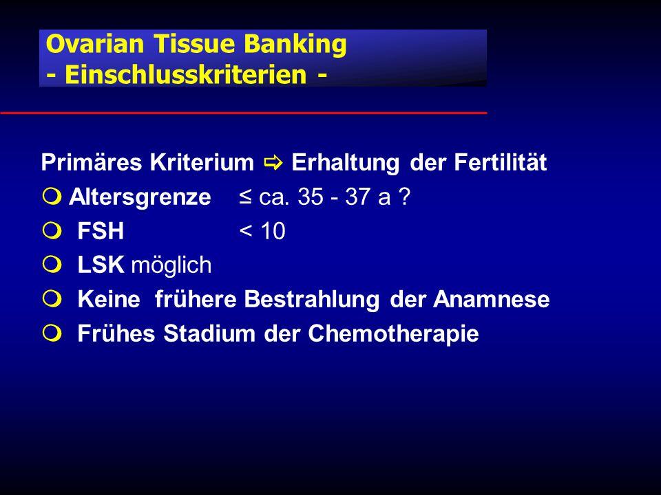 Ovarian Tissue Banking - Einschlusskriterien -