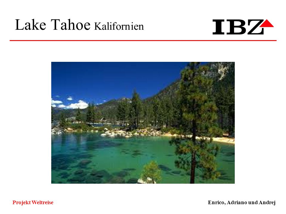 Lake Tahoe Kalifornien