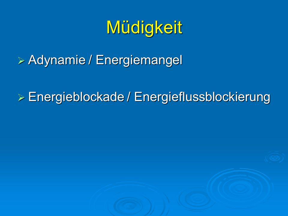 Müdigkeit Adynamie / Energiemangel