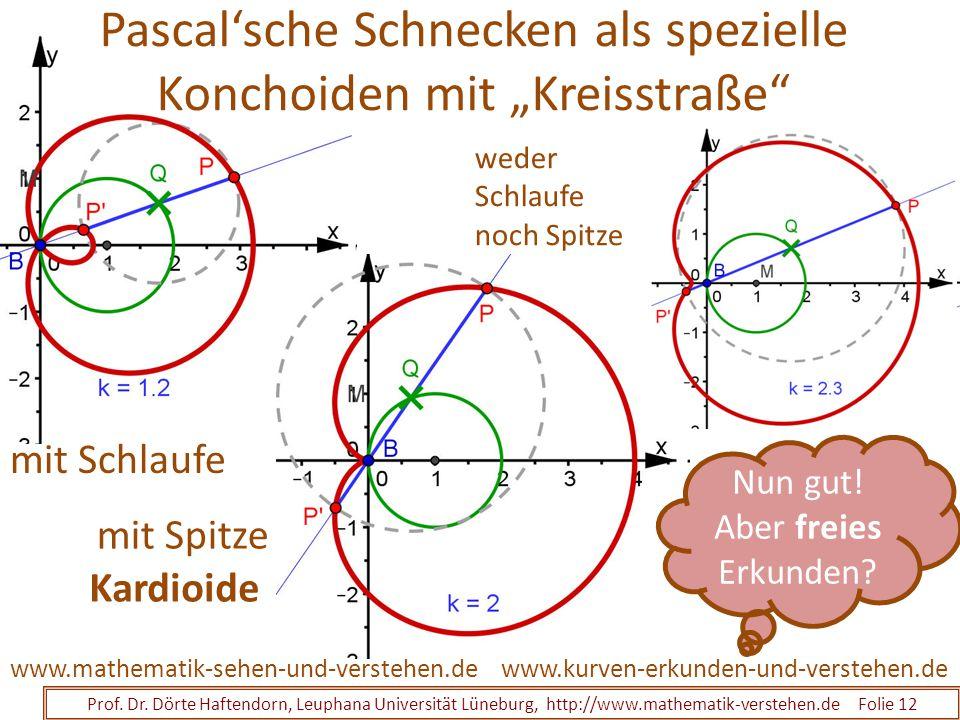 """Pascal'sche Schnecken als spezielle Konchoiden mit """"Kreisstraße"""