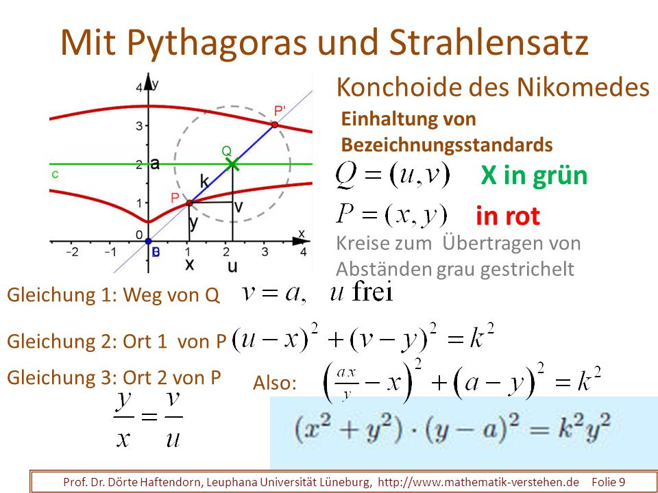 Mit Pythagoras und Strahlensatz