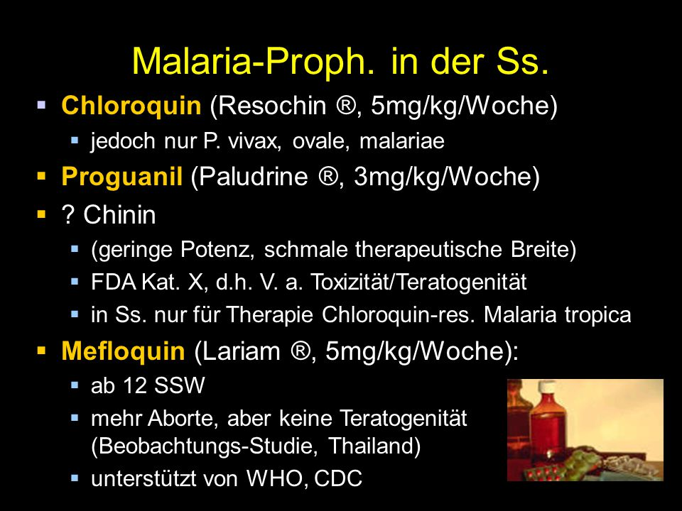 Malaria-Proph. in der Ss.
