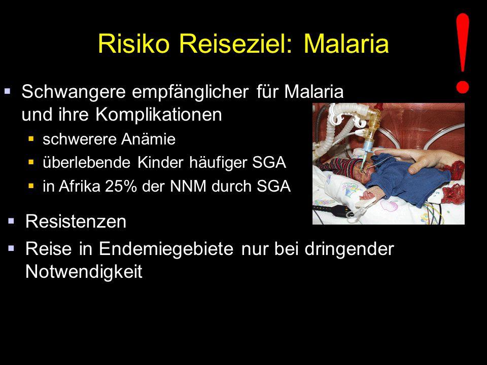 Risiko Reiseziel: Malaria