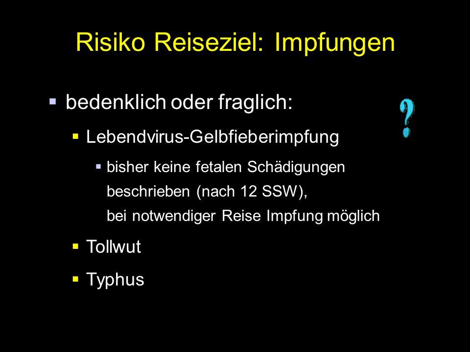 Risiko Reiseziel: Impfungen