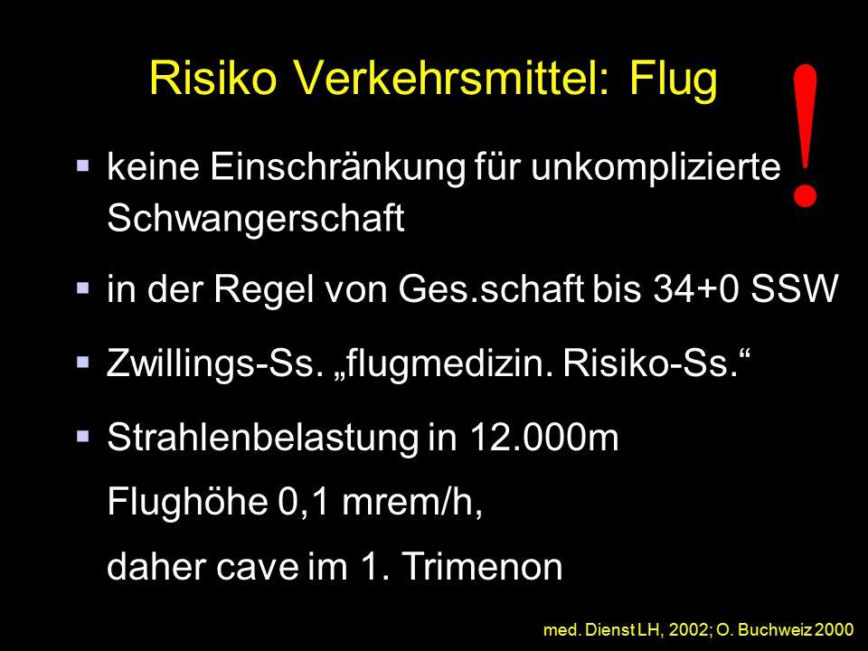 Risiko Verkehrsmittel: Flug