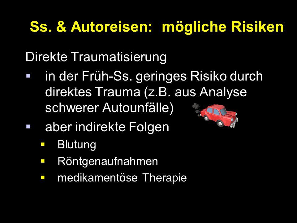 Ss. & Autoreisen: mögliche Risiken
