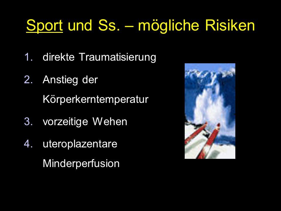 Sport und Ss. – mögliche Risiken