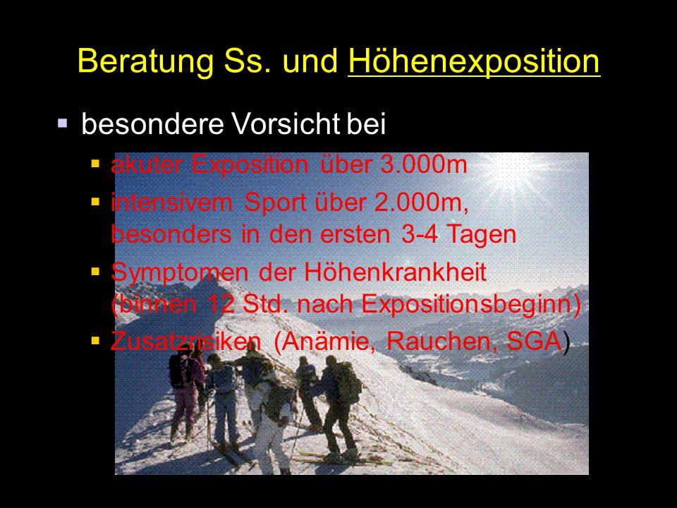 Beratung Ss. und Höhenexposition