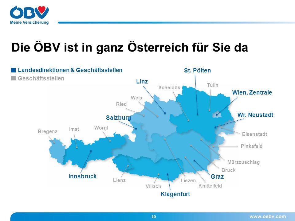 Die ÖBV ist in ganz Österreich für Sie da