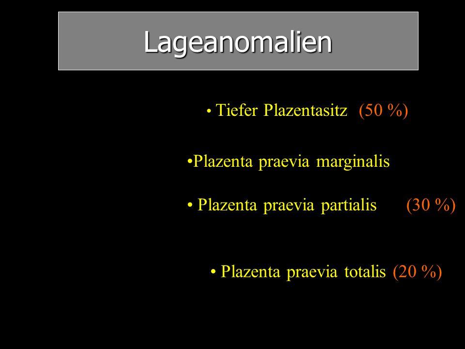 Lageanomalien Plazenta praevia marginalis