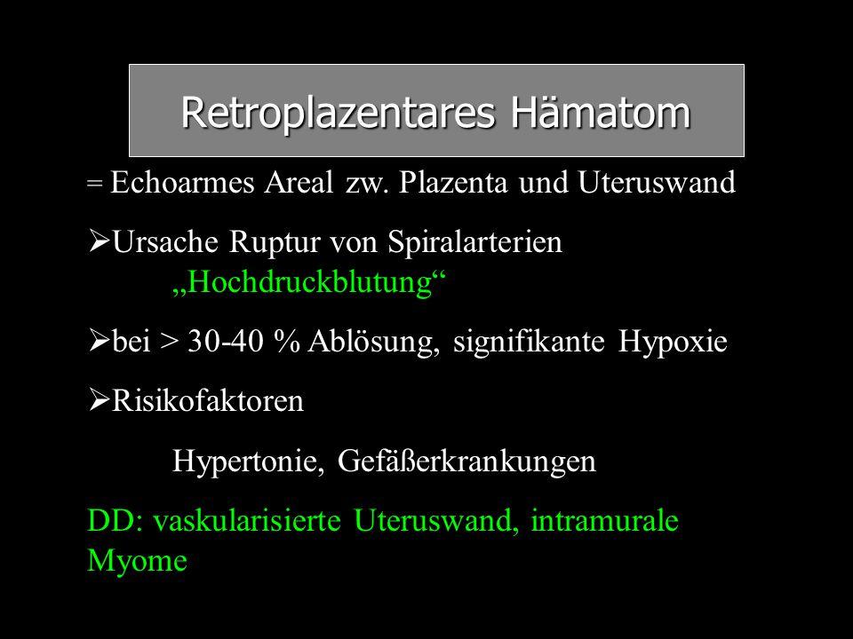 Retroplazentares Hämatom
